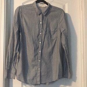 Old Navy Pinstripe Button Down Shirt